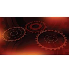 dark orange technical vector image vector image