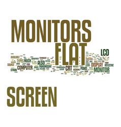 Flat screen monitors a technological wonder text vector