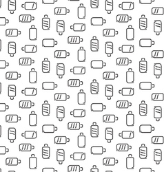 Battery pattern seamless vector image