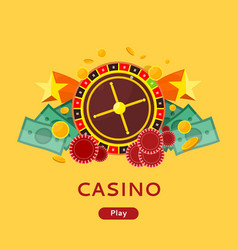 casino gambling website template vector image