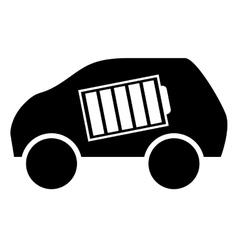 Eco friendly car icon image vector