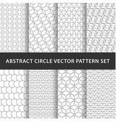 geometric circle pattern pack vector image
