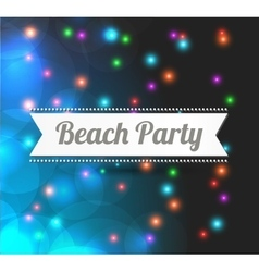 invitation to Beach party vector image