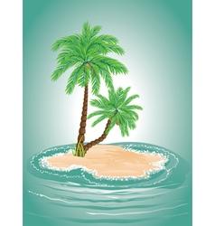 Palm Tree on Island2 vector image vector image