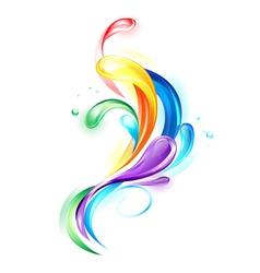 Rainbow light drops vector