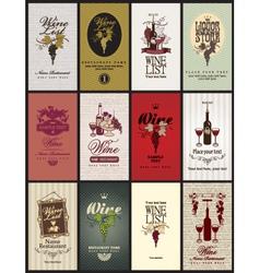 set wine vector image