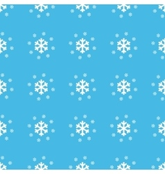 Snowflakes straight pattern vector image vector image