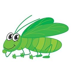 A smiling grasshopper vector image vector image