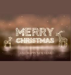 beautiful christmas bokeh background with lighten vector image vector image
