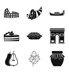 moonshine icons set simple style vector image vector image