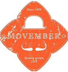 November 27 2014 The Movember Foundation is an vector image vector image