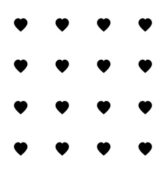 Seamless pattern with black hearts for web print vector image vector image