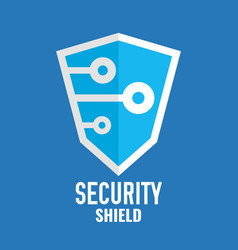 security shield logo technology logotype vector image