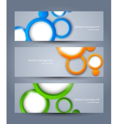 Set of banners with colorful circles vector image vector image