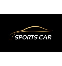 Sports car LOGO vector image
