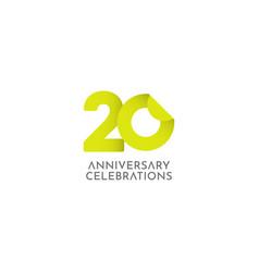 20 years anniversary celebration logo icon vector