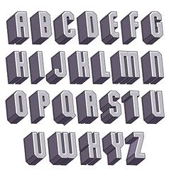 3d geometric bold font monochrome dimensional vector