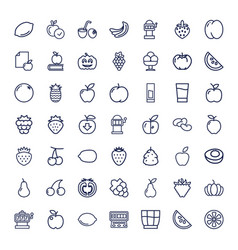 49 fruit icons vector