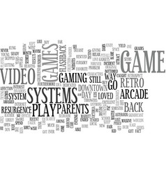 A flashback from way back text word cloud concept vector