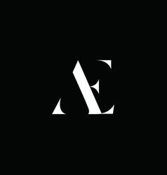 Ae initial logo design logo letter logo vector