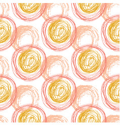 autumn seamless pattern with orange circle vector image