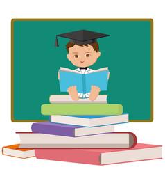 baby professor or graduating student vector image