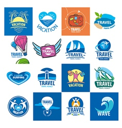 Biggest collection of logos for travel and tourism vector