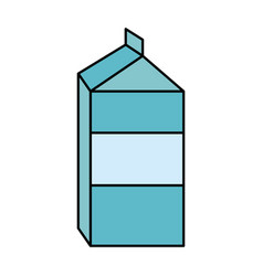 Blank label milk carton icon image vector