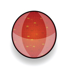 Brick red in circle vector