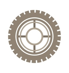 brown silhouette gear wheel icon vector image