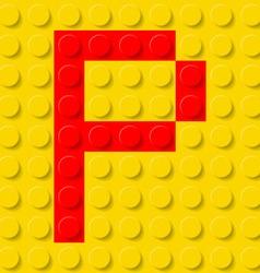 Building kit of plastic Font 16 vector