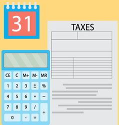 Calculation of tax day vector