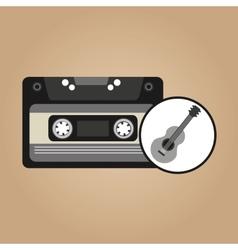cassette vintage guitar style hipster vector image