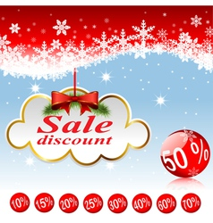 Christmas clouds discount vector
