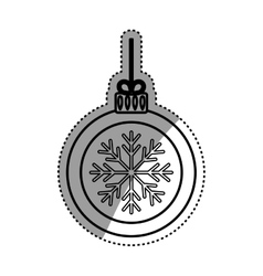 Christmas decorative symbol vector image