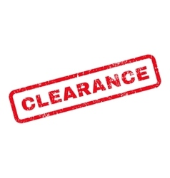 Clearance Text Rubber Stamp vector