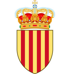 coat of arms of catalonia of spain vector image