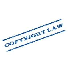 Copyright Law Watermark Stamp vector