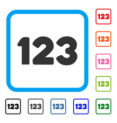 digits framed icon vector image