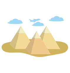 egypt pyramids icon vector image
