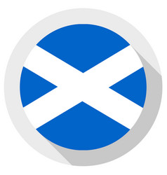 Flag scottish round shape icon on white vector