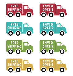 free shipping flat icons vector image