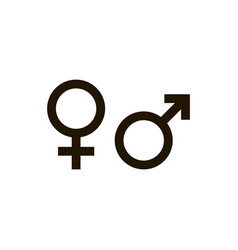 gender symbol isolated on white background gender vector image