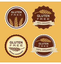 Gluten free and wheat labels Retro design vector