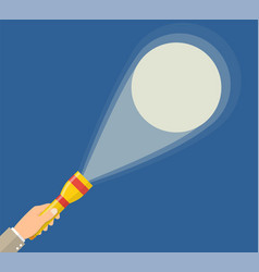 hand holding flashlight vector image