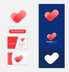 heart and checklist logo premium vector image