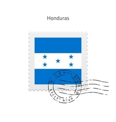 Honduras Flag Postage Stamp vector image