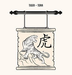 ierog 0007 tiger vector image