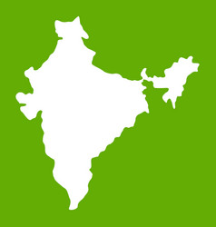 indian map icon green vector image
