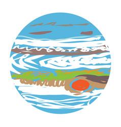 jupiter doodle vector image